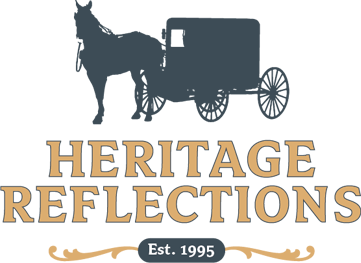 heritage reflections fine amish furniture logo